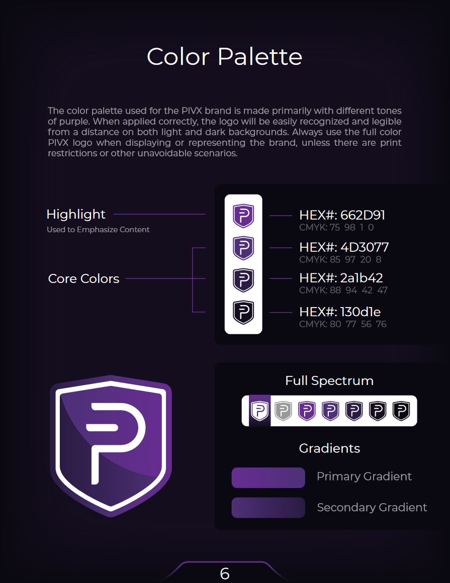 PIVX Color Palette