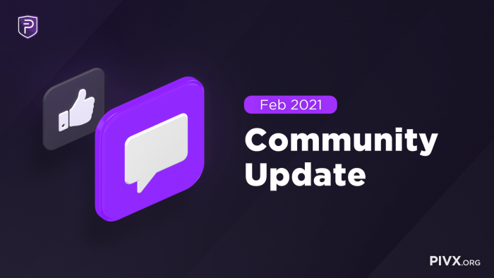 Community Update Feb 2021